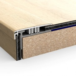 Профиль PERGO INCIZO Вспомогательный алюминиевый для лестниц 17 мм